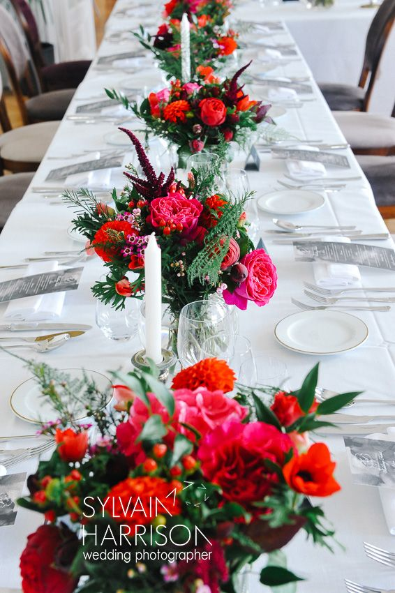 Wedding Decor at Chateau De La Cazine, Flowers by Lisa Gatenby and Photography by Sylvain Harrison