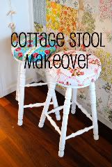 Beach Vintage: Project Day: Cottage Stool Makeover