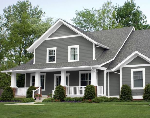 25 best ideas about gray exterior houses on pinterest home exterior colors exterior colors - Exterior white trim paint pict ...