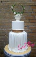 Greek goddess cake, with custom headpiece cake topper.  Sweet Things by Wendy   sweetthingsbywendy.ca