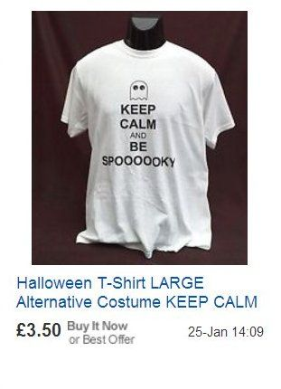 Halloween T-Shirt KEEP CALM AND BE SPOOKY