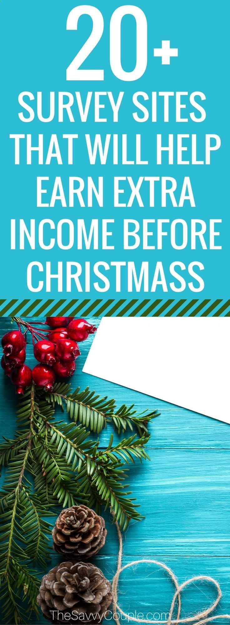Are you a busy mom who wants to learn how to make some extra money from home? Here are 20 of the best survey companies that we have personally used and approved. We were able to save up money to pay for Christmas one year using these 20 companies! Check them out and start earning extra income today! via @TheSavvyCouple