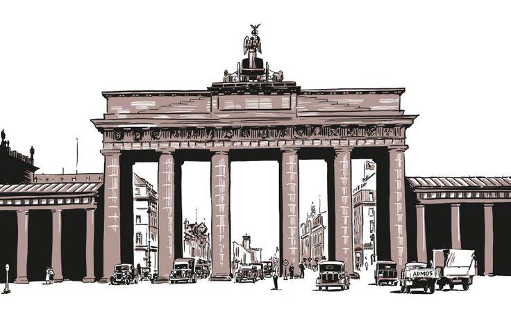 Kein Berlin-Buch ohne das Brandenburger Tor, an dem damals noch geschäftiges...