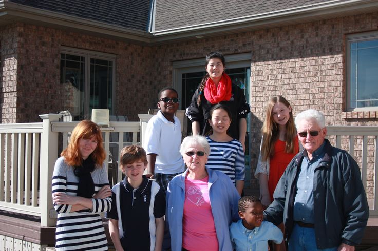 Grama and Grampa Brodie with the Jacques kids.