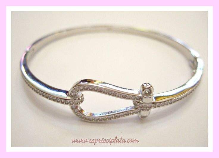 Brazalete de plata 925m con circonitas engastadas. #plata #joyas #pulseras #moda #fashion #novias #bodas #verano #2016 #rebajas #descuentos #tiendaonline www.capricciplata.com