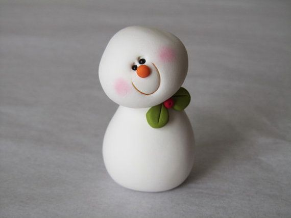 Polymer+Clay+Christmas+Snowman+by+ClayPeeps+on+Etsy