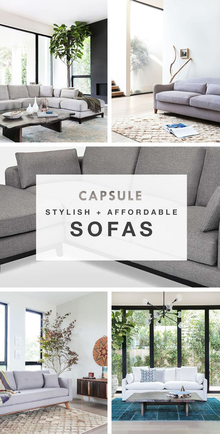 Stylish, affordable, and only a couple of clicks away. Design the space you've always dreamed of with our collection of sofas and more. Head to www.capsulehome.com to shop our products, and sign up for our newsletter to receive 10% off your very first purchase.