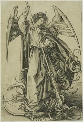 Martin Schongauer, Saint Michael Slaying the Dragon, engraving, 1470.
