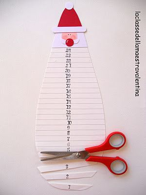Clever way to work on counting and patience..... cut Santa's beard #christmas