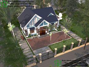 Thiết kế biệt thự vườn 1 tầng tại Thanh Hóa NDBT1T31