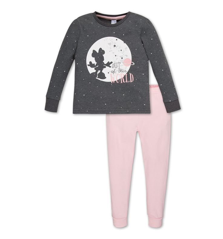 Pyjama en coton Minnie Mouse dans gris foncé