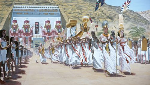 National Geographic Illustrations Of Ancient Egyptian
