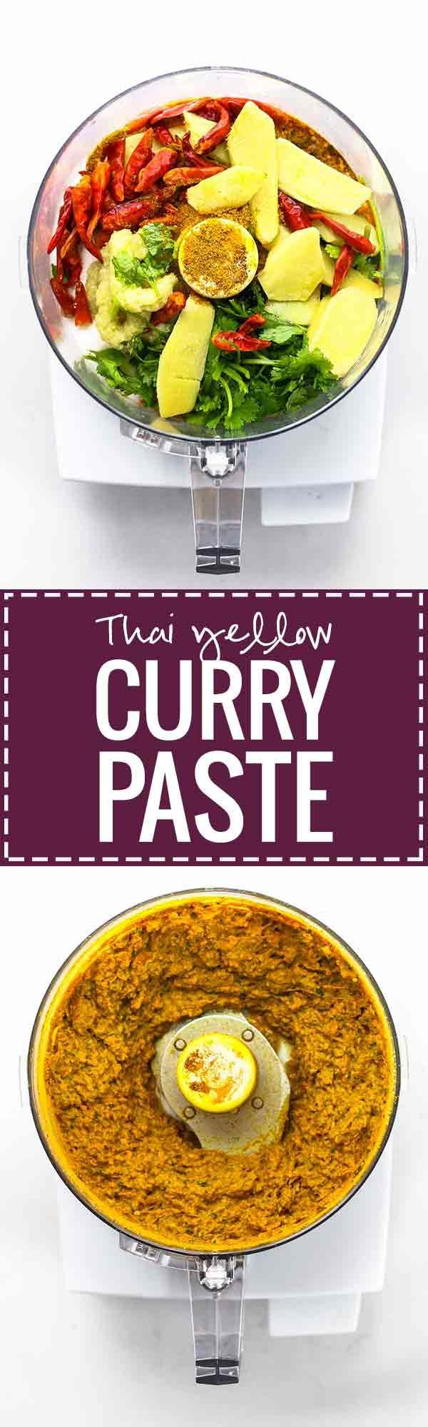 Easy Thai Yellow Curry Paste - made with ingredients that can be found at almost any grocery store! This easy recipe takes 45 minutes and gives you enough curry paste for 4+ batches of curry, and it freezes perfectly. Vegan!   pinchofyum.com