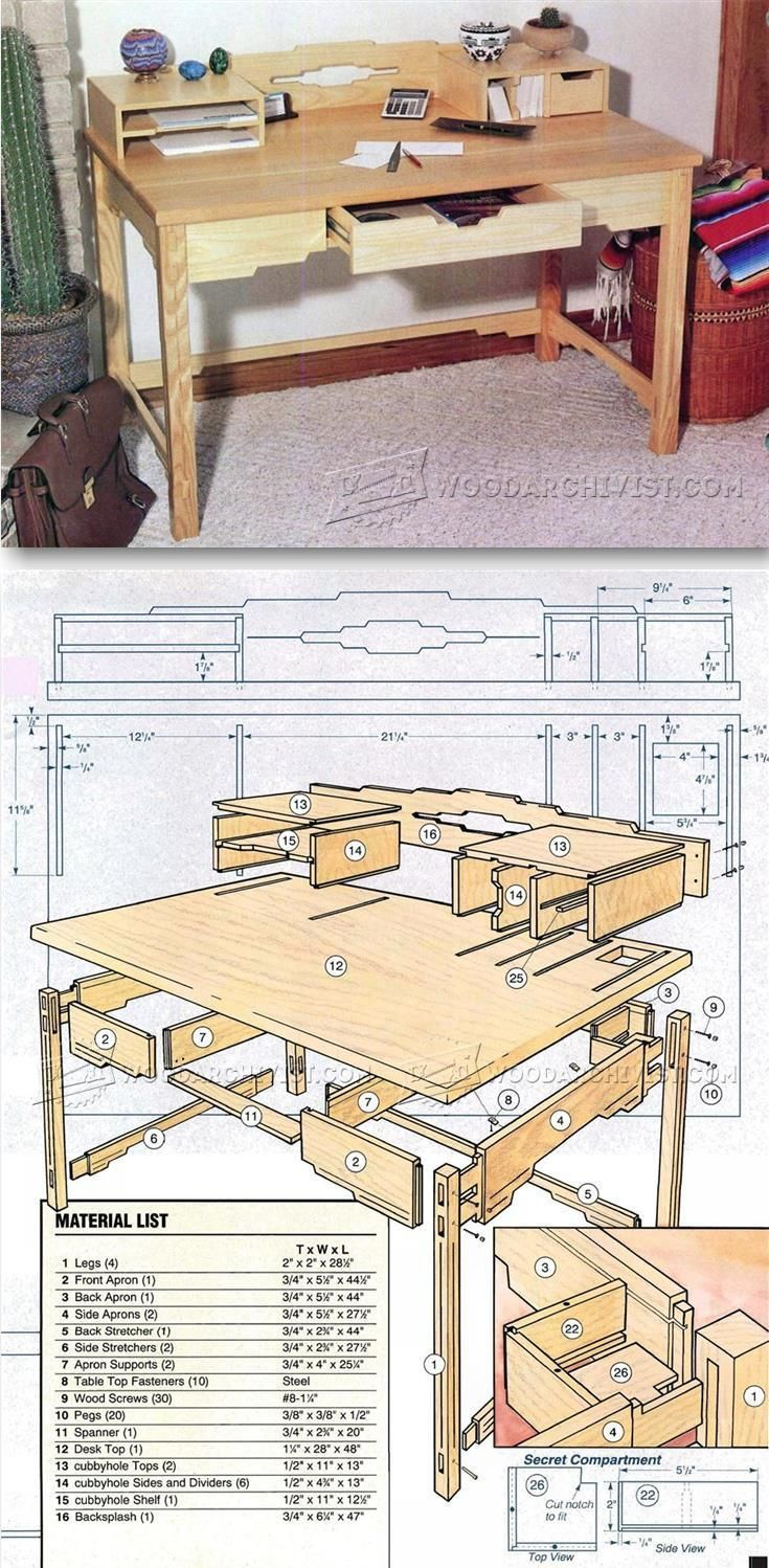 Best 25 desk plans ideas on pinterest build a desk - Woodworking plans bedroom furniture ...