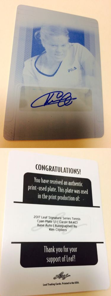 Tennis Cards 43371: Rare New Kim Clijsters 2017 Leaf Auto 1 1 Signature Series Printing Plate -> BUY IT NOW ONLY: $99.99 on eBay!
