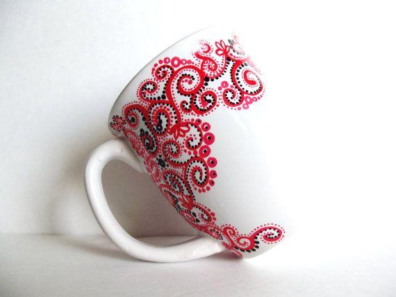 Coffee Mug Design Ideas diy coffee mug design ideas diy coffee cup designs stashing through the snow fun christmas coffee Paisley Hand Painted Mug Single Large Personalized Coffee Cup