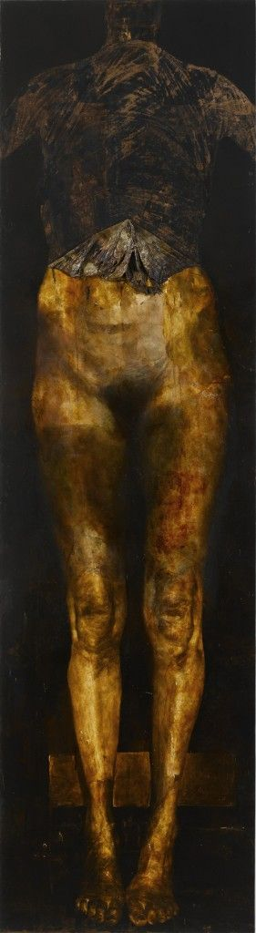 Nicola Samori, Aor, 2006/2012, oil on copper -- The paintings of Italian artist, Nicola Samori, are full of sensuous energy. The thirty-five year old's style is derived from the classical paintings of early renaissance masters. With the highest degree of precession, his figures emerge from the darkness of pictorial space into the light with dramatic realism. www.nicolasamori....