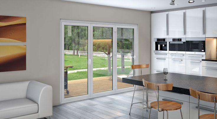 Image of: Exterior accordion screen doors