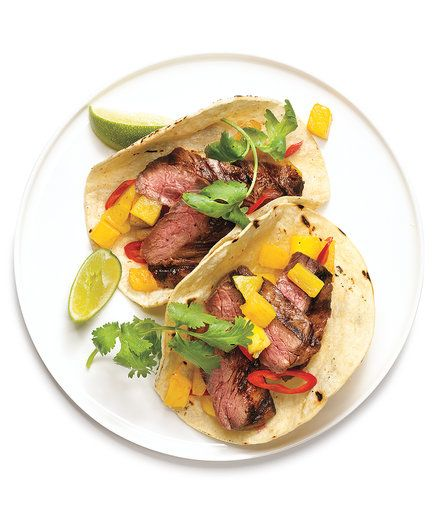 Beef and Pineapple Tacos | Ready to think beyond the burrito? Just wrap your head around these recipes—they're easy, fast to fix, and flat-out delicious.