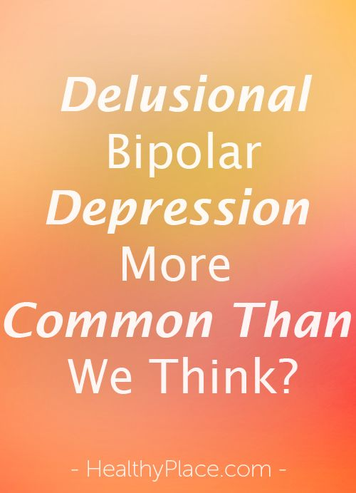Delusions are false beliefs that are part of psychosis. Are delusions more common in bipolar depression than we think? Breaking Bipolar blog.   www.HealthyPlace.com