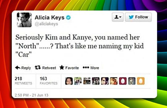 Alicia Keys On Kanye West's Baby Name