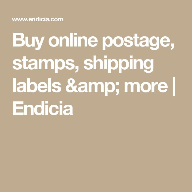 Buy online postage, stamps, shipping labels & more | Endicia
