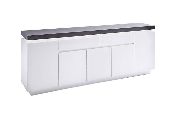 AVALON Sideboard 200 m. LED Vit/Betong - Sideboards