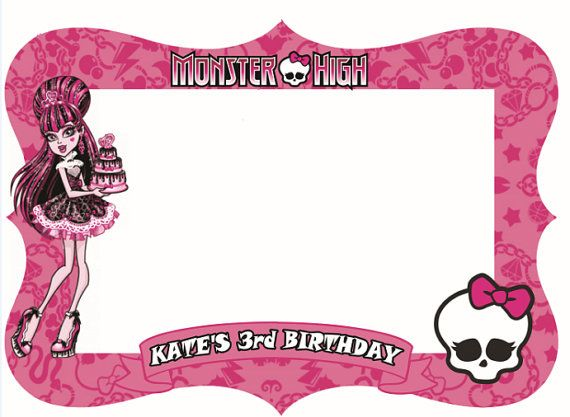 Monster high digital photo booth prop 39 x 31.5 by PartyAngelsss