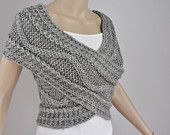 .: Knits Vest, Crochet Ideas, Etsy, Clothing, Criss Crosses, Knits Shawl, Crosses Sweaters, Great Ideas, Knits Projects