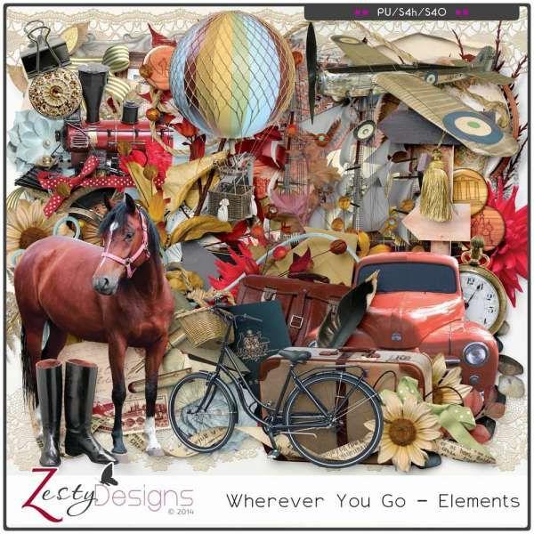 Digital Art :: Element Packs :: Wherever You Go - Elements