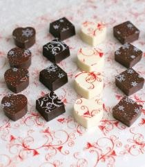 Cocoa butter design transfer sheets for chocolate goodies! By Dove Chocolate Discoveries