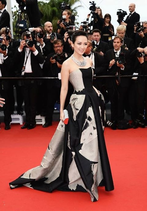 Ziyi Zhang wore Carolina Herrera to the 66th Annual Cannes Film Festival at the Palais des Festival in Cannes, France.