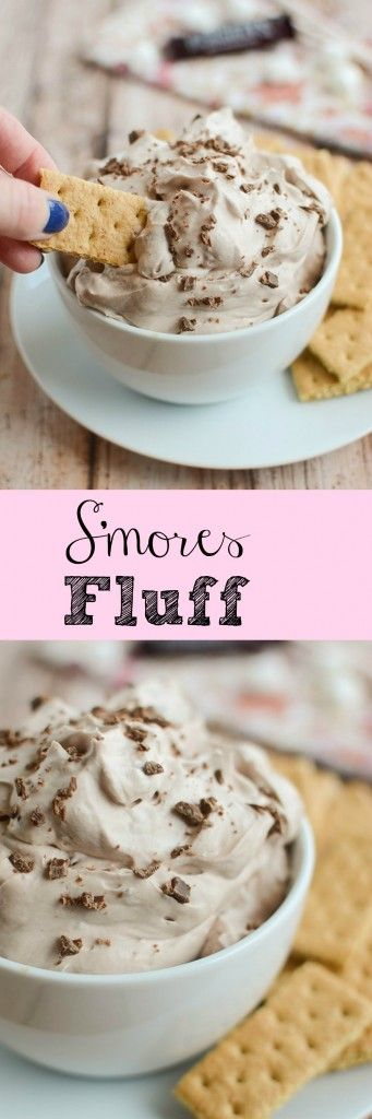 S'mores Fluff - a deliciously creamy dip that's perfect or dipping graham crackers or fresh fruit!