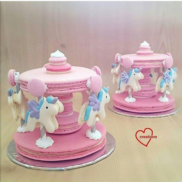 Macaroon unicorn carousel