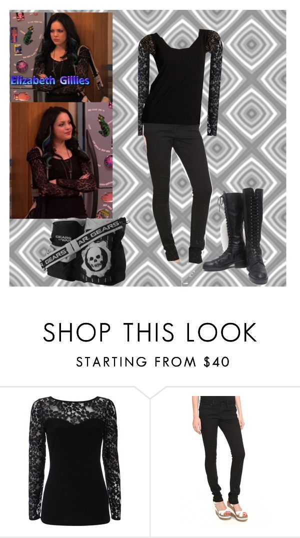 """Jade West"" by manson-luv ❤ liked on Polyvore featuring Wallis, Love Moschino, éS, jade west, goth, victorious, elizabeth gillies and liz gillies"