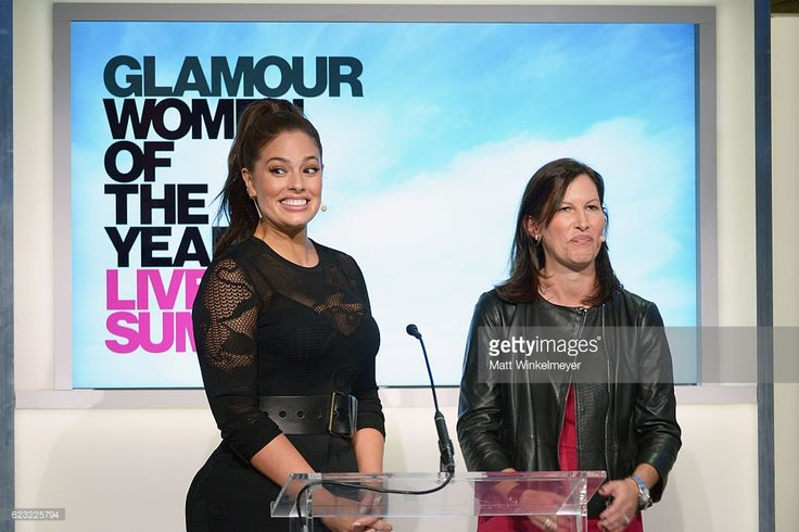Model Ashley Graham (L) and Lisa McKnight reveals the new Barbie at Glamour Women Of The Year 2016 LIVE Summit at NeueHouse Hollywood on November 14, 2016 in Los Angeles, California.