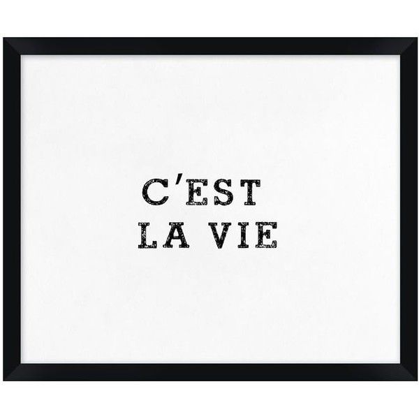 Pottery Barn C'Est La Vie Framed Print (2,920 THB) ❤ liked on Polyvore featuring home, home decor, wall art, paper wall art, pottery barn wall art, french wall art, pottery barn and french home decor
