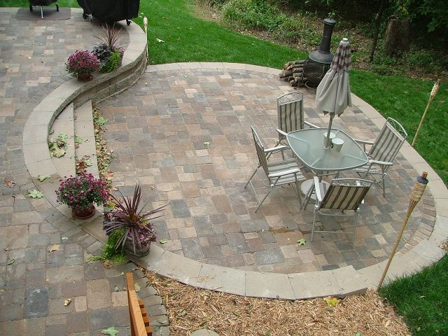 92 best paver patios images on pinterest | backyard ideas, patio ... - Patio Designs With Pavers