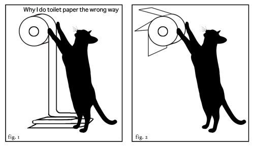 : Cats, Problems Solving, Funny Cat, Cat Problems, Toilets Paper, Hanging Toilets, Wrong, Cat Lovers, Toilet Paper