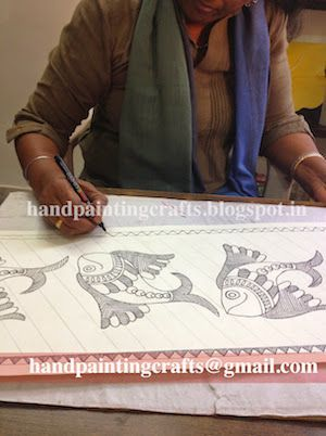 Photo: Madhubani Painting for Girls, Ladies, and Im going to show some different designs and Creative techniques. learn to paint step-by-step different styles and techniques will inspire you to create beautiful works.