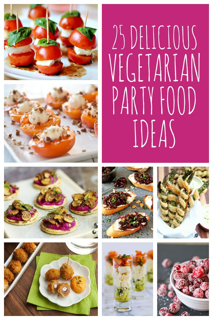 Whether you're having drinks with nibbles or planning a full buffet, here are 25 vegetarian party food ideas to wow your guests this Christmas #vegetarian #vegan #christmas
