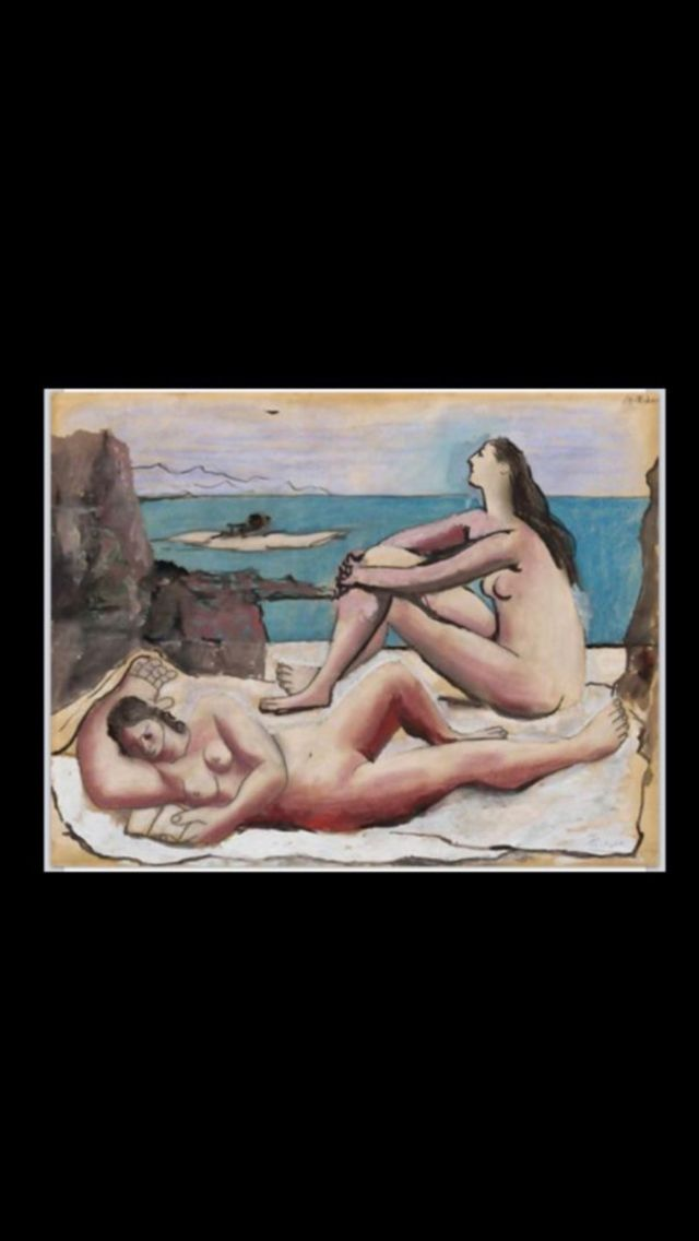 "Pablo Picasso - "" Three bathers "", 1920 - Pastel, oil, ink and graphite on paper - 47,8 x 61,4 cm - Solomon R. Guggenheim Museum, NY (..)"
