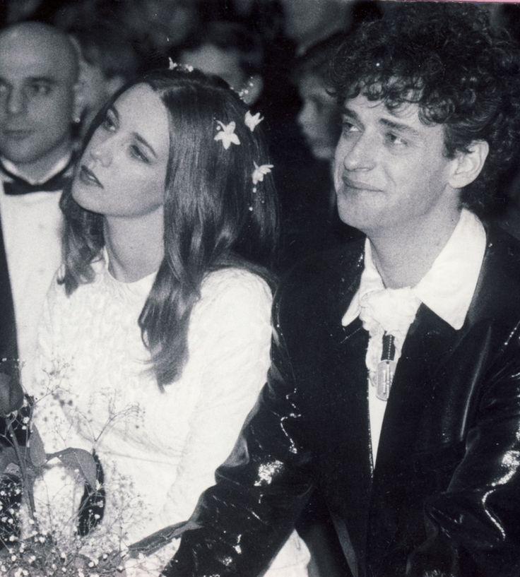 Gustavo Cerati y Cecilia Amenábar el día de su boda
