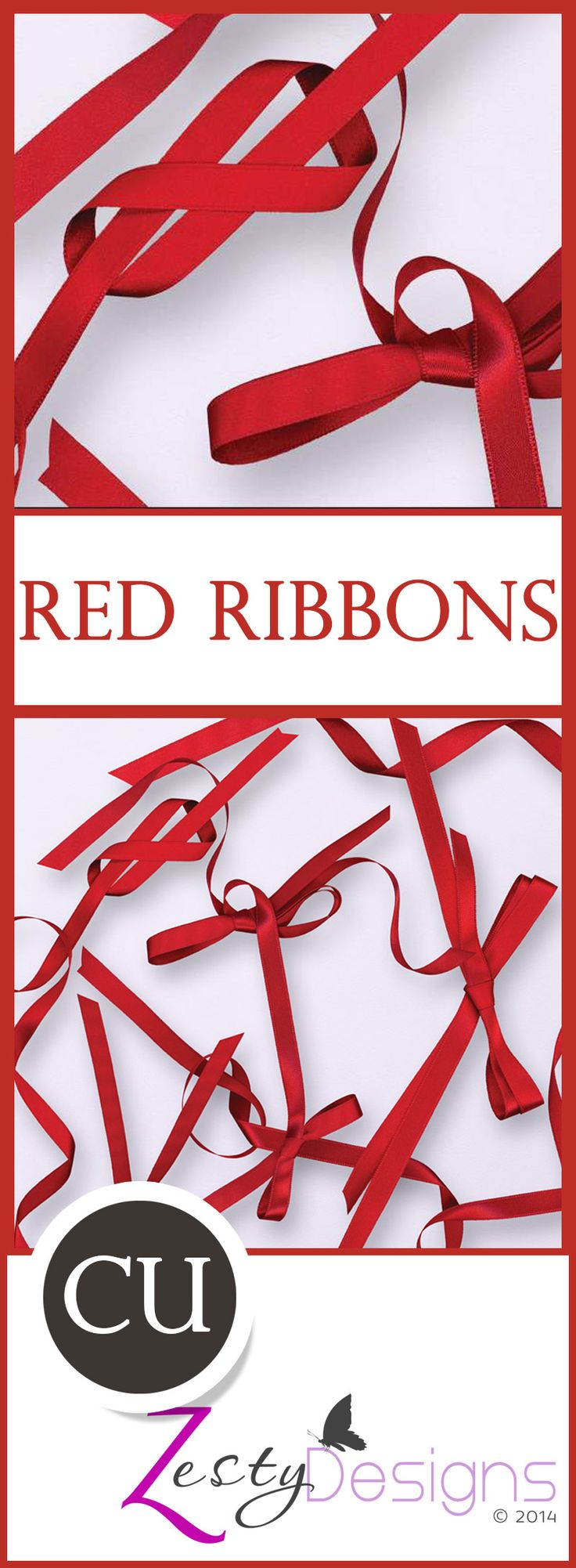 Ribbons always add that extra little curl, shimmer or shine to a digital scrapbooking kit or page. I think ribbons are one of the essentials in a designer's element arsenal.This pack has four long red ribbons, one tie, and one bow. This pack has four long red ribbons, one tie, and one bow.