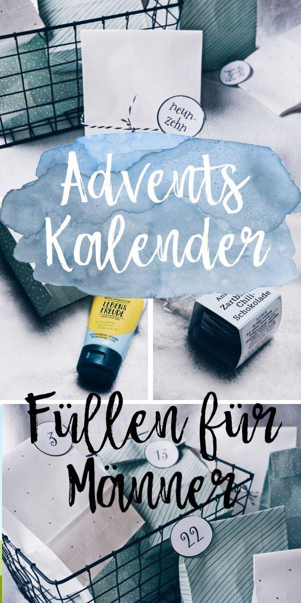 Adventskalender Fullen Besondere Ideen Auch Fur Manner Adventskalender Geschenke Adventskalender Diy Und Adventskalender