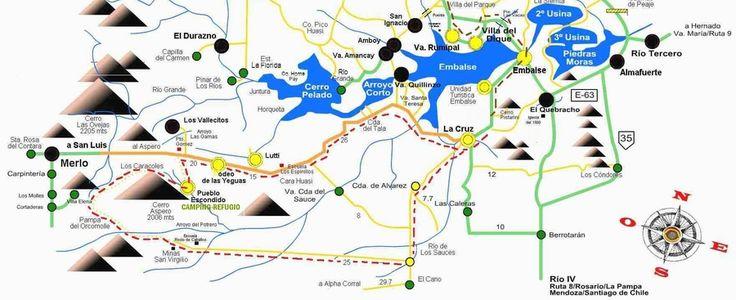 mapa 4x4 camino la cruz cordoba san luis