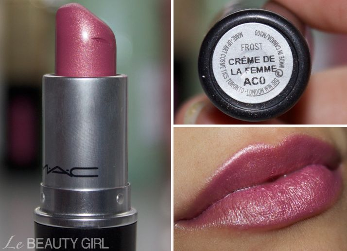This is a pretty color of MAC Lipstick! (Creme de la Femme). Could be suitable all year round