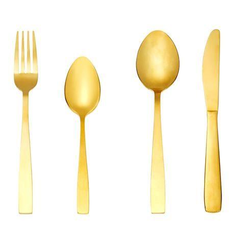 16-Piece Cutlery Set - Gold