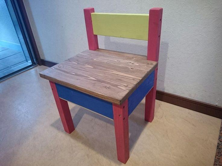 おもちゃ箱になる子供椅子をDIY!|LIMIA (リミア)