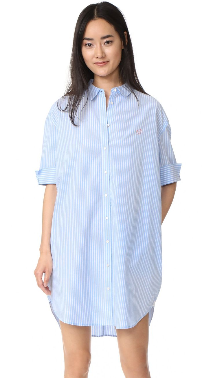 Scotch & Soda/Maison Scotch Women's Shirtdress, Blue Stripe, 4